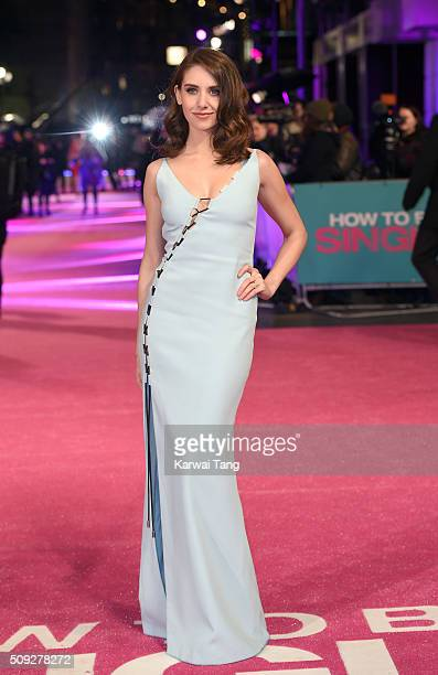 Alison Brie attends the European Premiere of 'How To Be Single' at the Vue West End on February 9 2016 in London United Kingdom