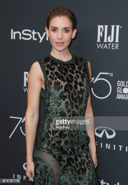 Alison Brie attends the Hollywood Foreign Press Association and InStyle celebrate the 75th Anniversary of The Golden Globe Awards at Catch LA on...