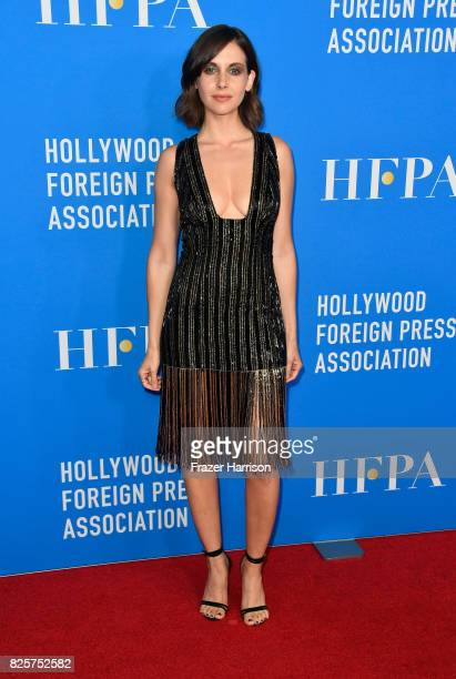Alison Brie attends the Hollywood Foreign Press Association's Grants Banquet at the Beverly Wilshire Four Seasons Hotel on August 2 2017 in Beverly...