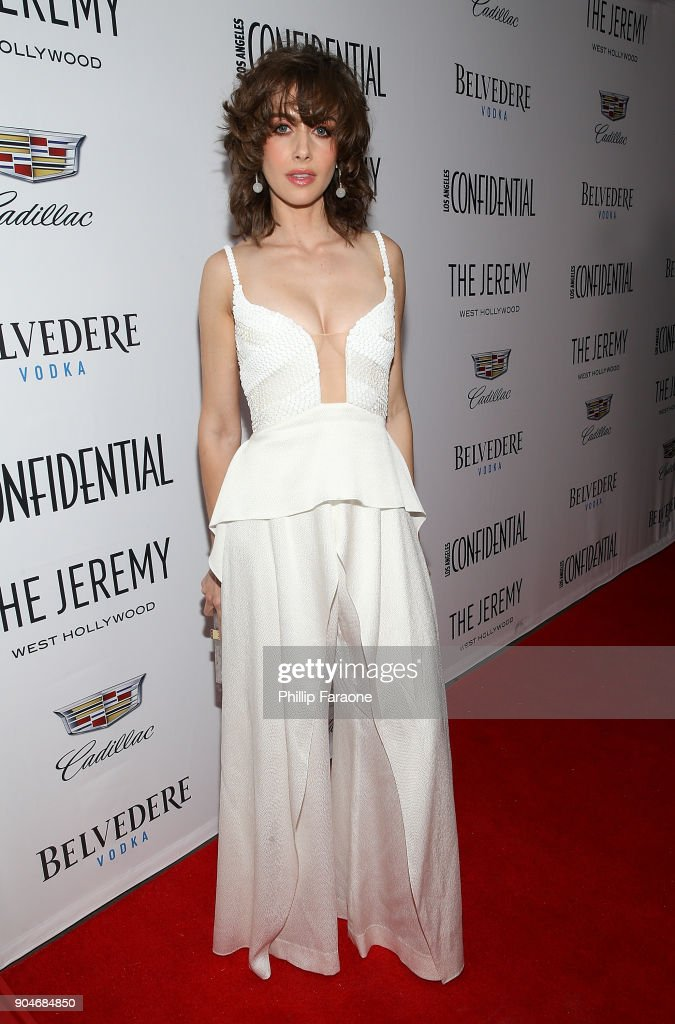 Alison Brie attends the Los Angeles Confidential, Alison Brie and Cadillac celebrate annual Awards Event with Belvedere Vodka at The Jeremy West Hollywood on January 13, 2018 in Los Angeles, California.
