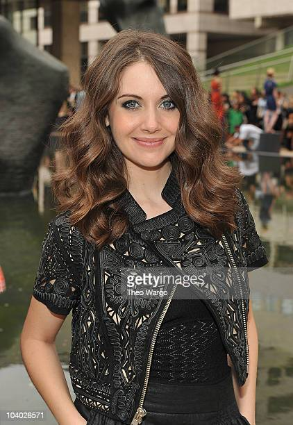 Alison Brie attends the Malandrino Spring 2011 fashion presentation during MercedesBenz Fashion Week at Grand Promenade Avery Fisher Hall on...