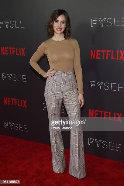 Alison Brie attends the #NETFLIXFYSEE Animation Panel Featuring 'Big Mouth' and 'BoJack Horseman' at Netflix FYSEE at Raleigh Studios on May 21 2018...