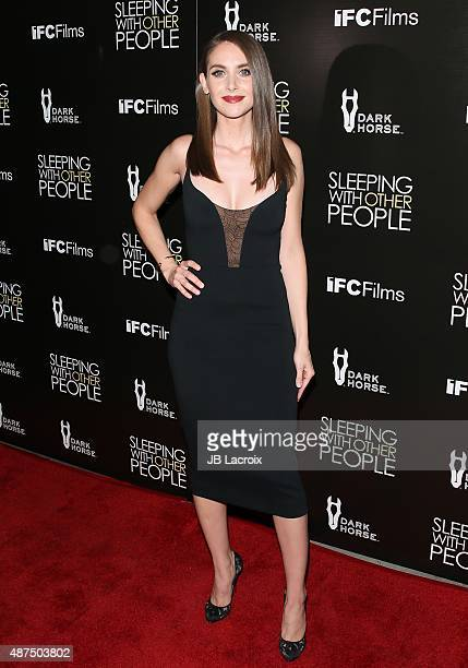 Alison Brie attends the premiere of IFC Films' 'Sleeping with other people' held at ArcLight Cinemas on September 9 2015 in Hollywood California