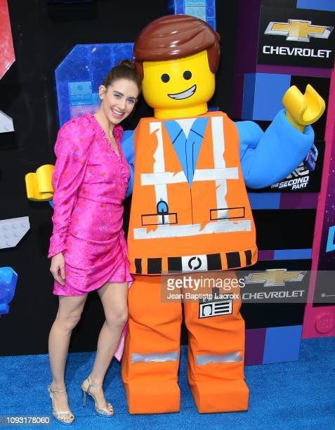 Alison Brie attends the premiere of Warner Bros Pictures' 'The Lego Movie 2 The Second Part' at Regency Village Theatre on February 2 2019 in...