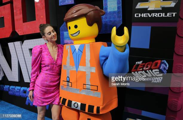 Alison Brie attends the premiere of Warner Bros Pictures' 'The Lego Movie 2 The Second Part' at Regency Village Theatre on February 02 2019 in...
