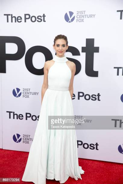 Alison Brie attends the 'The Post' Washington DC Premiere at The Newseum on December 14 2017 in Washington DC