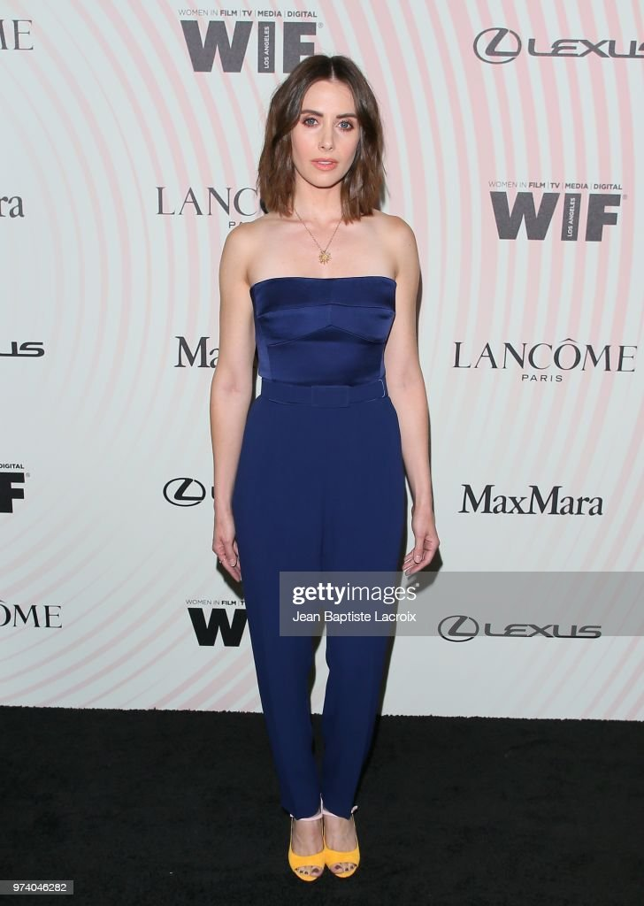 Alison Brie attends the Women In Film 2018 Crystal + Lucy Awards at The Beverly Hilton Hotel on June 13, 2018 in Beverly Hills, California.