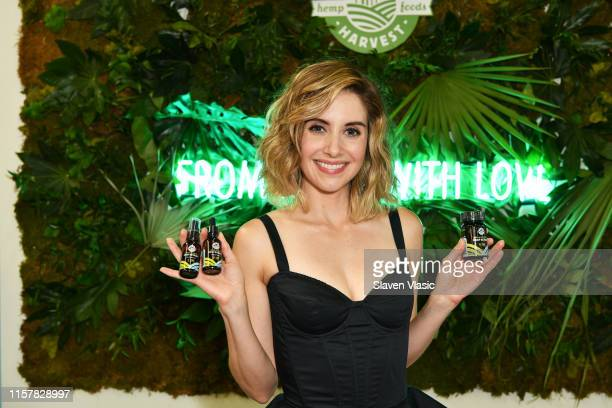 Alison Brie celebrates launch of Manitoba Harvest Broad Spectrum Hemp Extract with CBD during POPSUGAR Play/Ground at Pier 94 on June 23 2019 in New...