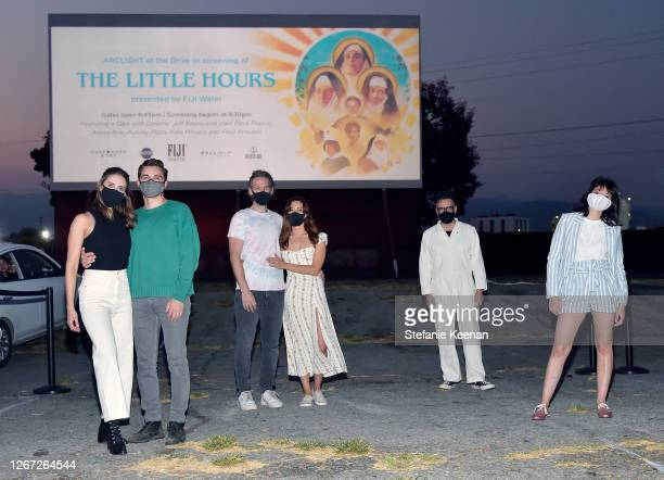 Alison Brie Dave Franco Jeff Baena Aubrey Plaza Fred Armisen and Kate Micucci attend FIJI Water at The Little Hours Screening at Arclight's DriveIn...
