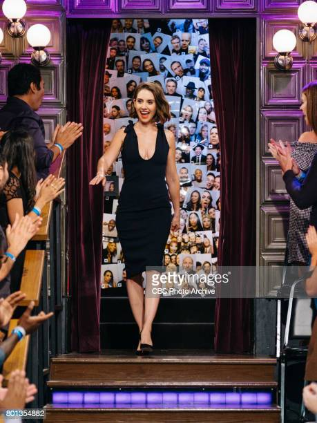 Alison Brie greets the audience during 'The Late Late Show with James Corden' Wednesday June 21 2017 On The CBS Television Network