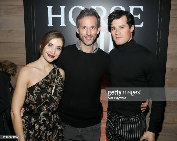 Alison Brie Jeff Baena and Jake Picking attend the Netflix Horse Girl Post Cocktails at The Ray on January 27 2020 in Park City Utah