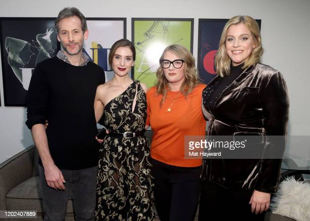 Alison Brie Jeff Baena Mel Eslyn and Alana Carithers attend the Netflix Horse Girl Premiere at The Ray on January 27 2020 in Park City Utah