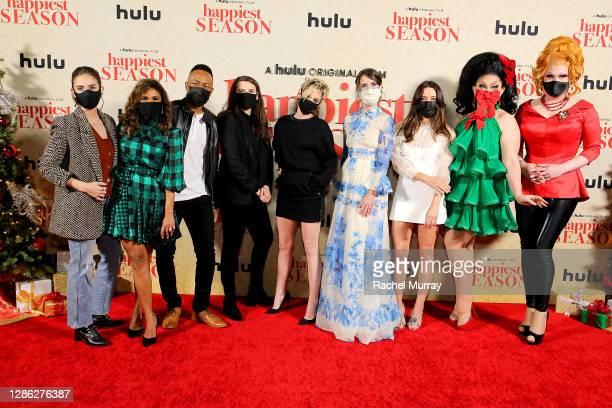 "Alison Brie, Sarayu Rao, Burl Moseley, Clea DuVall, Kristen Stewart, Mary Holland, Aubrey Plaza, BenDeLaCreme and Jinkx Monsoon attend Hulu ""Happiest..."