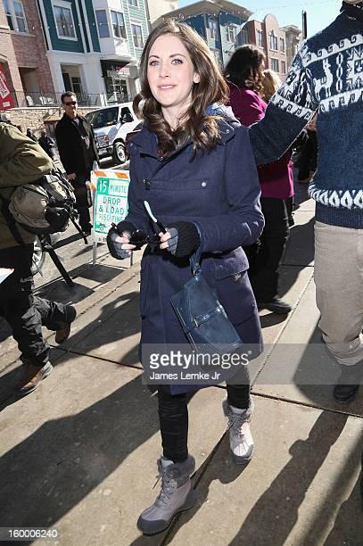 Alison Brie seen on Main street on January 20 2013 in Park City Utah