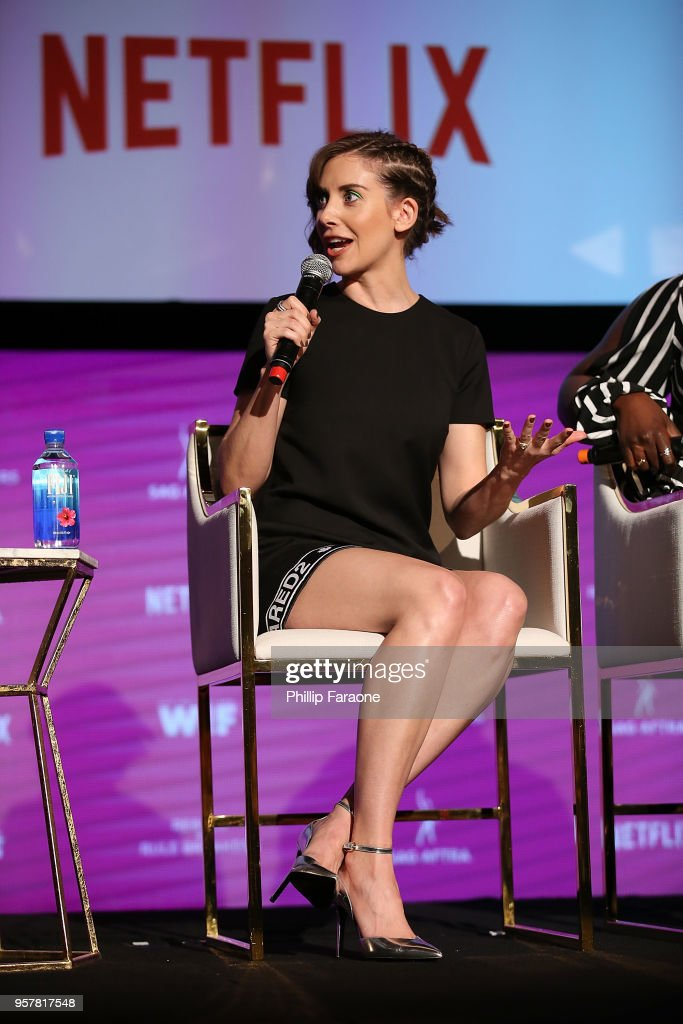 Alison Brie speaks onstage at the Netflix - Rebels and Rule Breakers For Your Consideration Event at Netflix FYSee Space on May 12, 2018 in Beverly Hills, California.