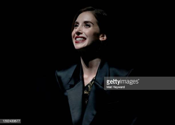 Alison Brie speaks onstage during the Netflix Horse Girl Premiere at The Ray on January 27 2020 in Park City Utah