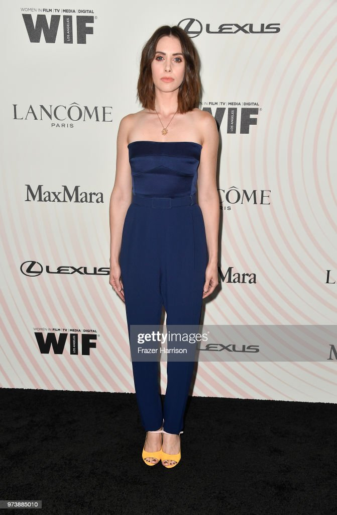 Alison Brie, wearing Max Mara, attends the Women In Film 2018 Crystal + Lucy Awards presented by Max Mara, Lancôme and Lexus at The Beverly Hilton Hotel on June 13, 2018 in Beverly Hills, California.