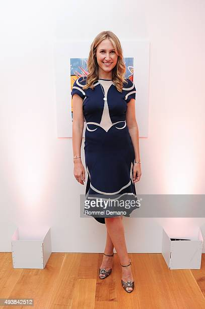 Alison Brokaw attends Gus Al Party Launching #yes Collection including Jeff Koons Limited Edition Collaboration on October 22 2015 in New York City