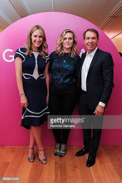 Alison Brokaw Justine Koons and Jeff Koons attend Gus Al Party Launching #yes Collection including Jeff Koons Limited Edition Collaboration on...
