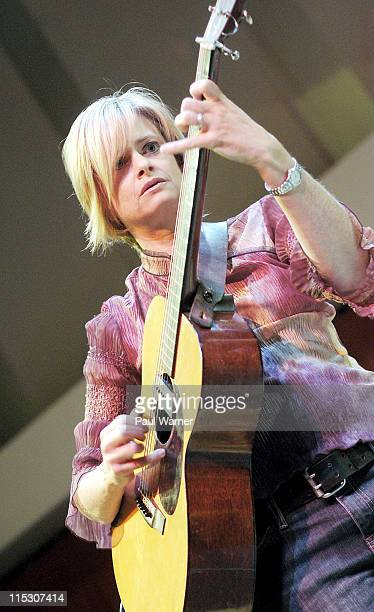 Alison Brown during Concert of Colors Featuring Ladysmith Black Mambazo and Indigo Girls at Max M Fisher Music Center in Detroit Michigan United...