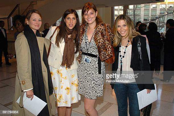 Alison Burwell Sophia Chavez Ashley Baker and Jamie Rosen attend Diamonds for Humanity Gala at Avery Fischer Hall at Lincoln Center on April 13 2005...