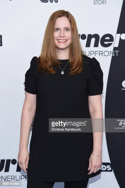 Alison Camillo attends the Turner Upfront 2018 arrivals on the red carpet at The Theater at Madison Square Garden on May 16 2018 in New York City...