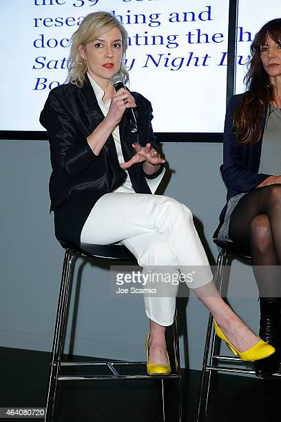 Alison Castle attends the Vanity Fair Campaign Hollywood Social Club Behind the Pages Taschen Presents Saturday Night Live The Complete History With...