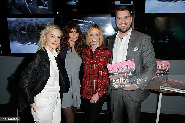 Alison Castle Mary Ellen Matthews Edie Baskin and Creed Paulson attend Vanity Fair Campaign Hollywood Social Club Behind the Pages Taschen Presents...