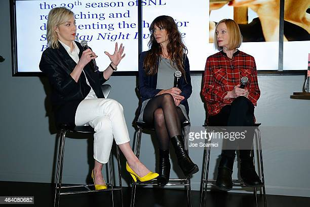 Alison Castle Mary Ellen Matthews Edie Baskin attend Vanity Fair Campaign Hollywood Social Club Behind the Pages Taschen Presents Saturday Night Live...