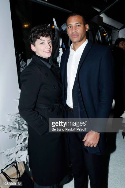 Alison Chekher and Bintady Emmanuel Hie attend 'L'Alpe Delvaux' Party at Palais Royal on December 14 2018 in Paris France