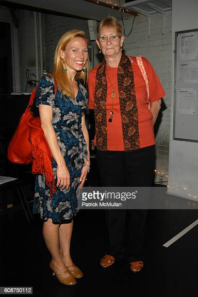 Alison Cook and Debbie de Jong attend An Evening with the Paul Taylor Dance Company at Paul Taylor Studios on October 17 2007 in New York City