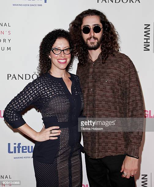 Alison Dean and her brother attend the 5th annual Women Making History Brunch at Montage Beverly Hills on September 17 2016 in Beverly Hills...