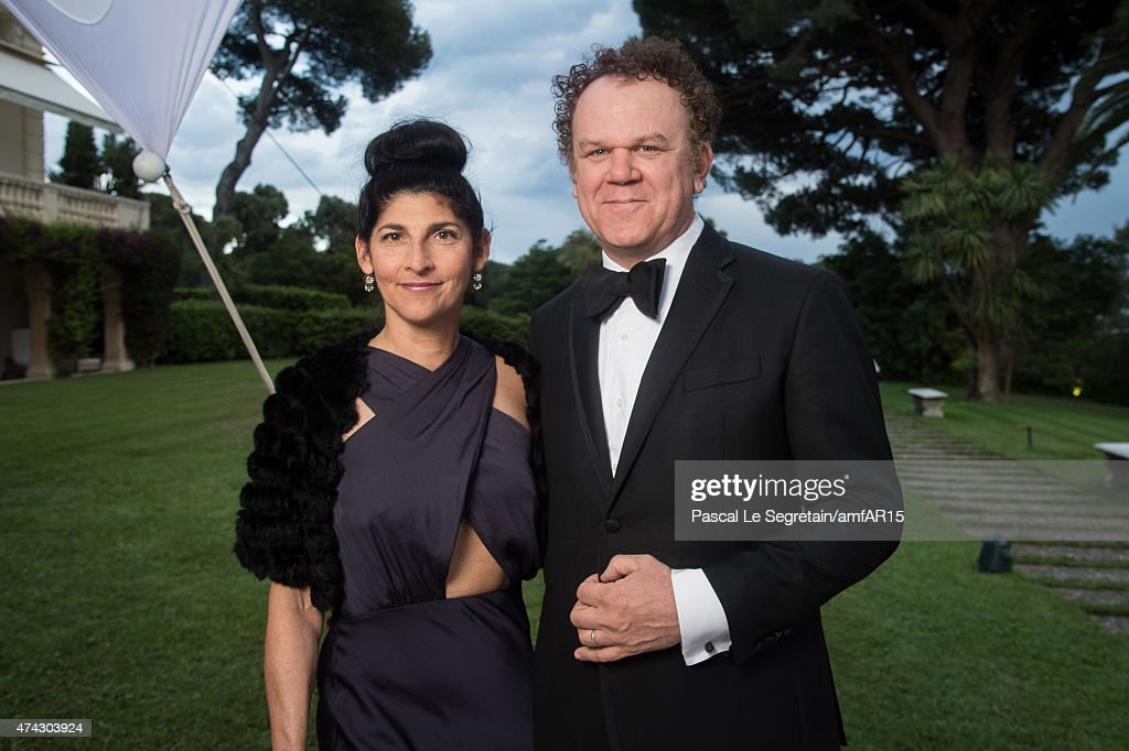 Alison Dickey and actor John C. Reilly attend amfAR's 22nd Cinema Against AIDS Gala, Presented By Bold Films And Harry Winston at Hotel du Cap-Eden-Roc on May 21, 2015 in Cap d'Antibes, France.
