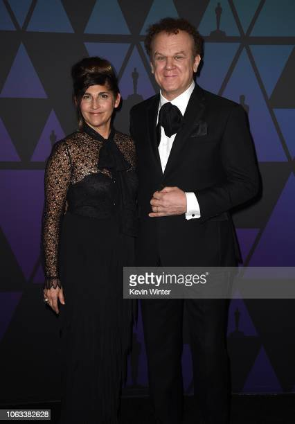 Alison Dickey and John C Reilly attend the Academy of Motion Picture Arts and Sciences' 10th annual Governors Awards at The Ray Dolby Ballroom at...