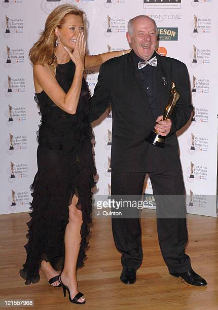 Alison Doody and Gerard McSorley with his Best Actor Award for his performance in Omagh