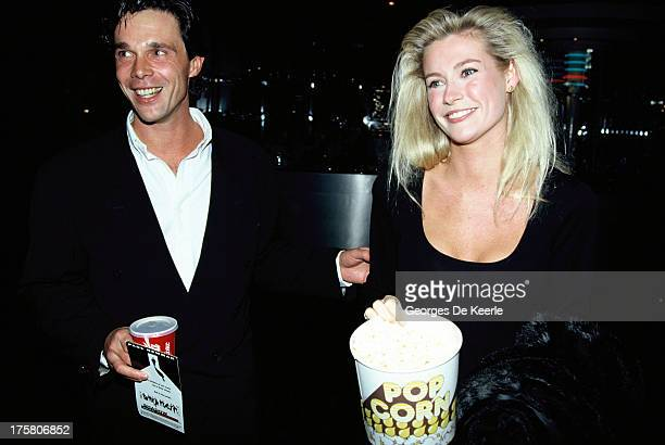 Alison Doody and her boyfriend Mark attend the premiere of 'Shadow Makers' aka 'Fat Man and Little Boy', directed by Roland Joffe and starring Paul...