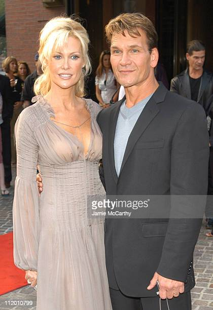 Alison Doody and Patrick Swayze during 'King Solomon's Mines' Premiere at Tribeca Grand Hotel in New York City New York United States