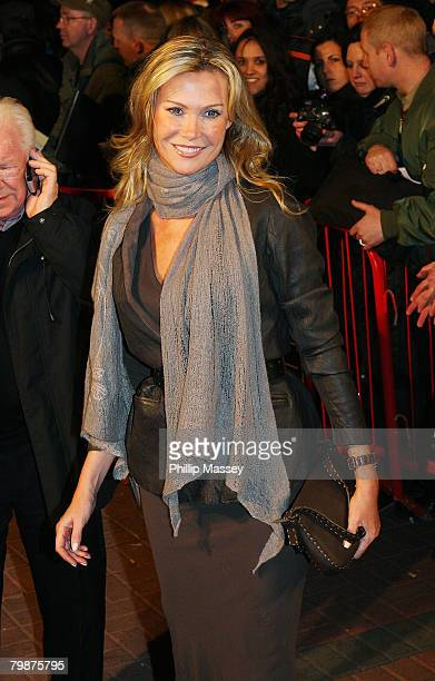Alison Doody attends the European Premiere of U2 3D as part of the Jameson Dublin International Film Festival at Cineworld on February 20 2008 in...