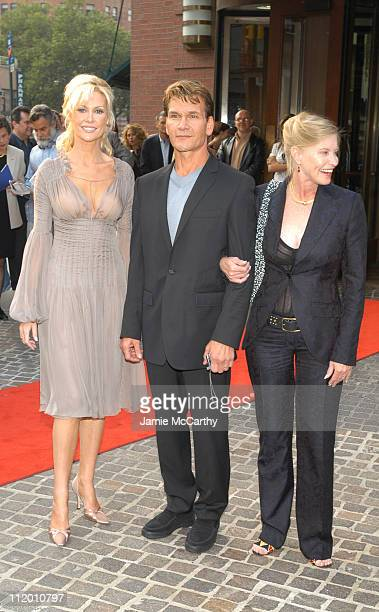 Alison Doody Patrick Swayze and Lisa Niemi during King Solomon's Mines Premiere at Tribeca Grand Hotel in New York City New York United States