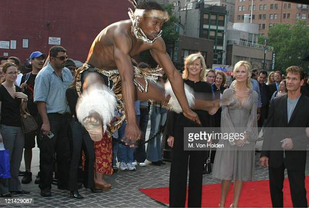 Alison Doody Patrick Swayze Dancer during VIP Screening of King Solomon's Mines at The Tribeca Grand Hotel in New York New York United States