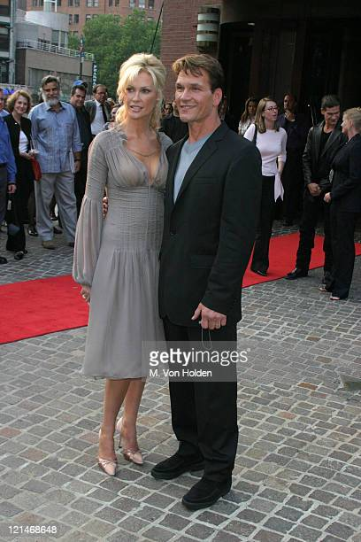 Alison Doody Patrick Swayze during VIP Screening of King Solomon's Mines at The Tribeca Grand Hotel in New York New York United States