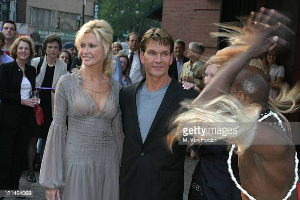 Alison Doody Patrick Swayze Lisa Niemi Dancer during VIP Screening of King Solomon's Mines at The Tribeca Grand Hotel in New York New York United...