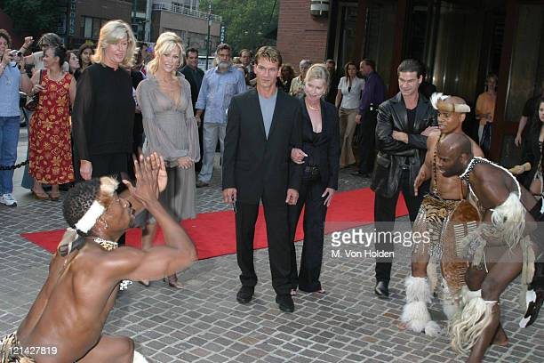 Alison Doody Patrick Swayze Lisa Niemi Dancers during VIP Screening of King Solomon's Mines at The Tribeca Grand Hotel in New York New York United...