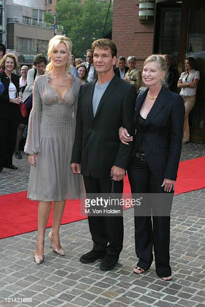 Alison Doody Patrick Swayze Lisa Niemi during VIP Screening of King Solomon's Mines at The Tribeca Grand Hotel in New York New York United States