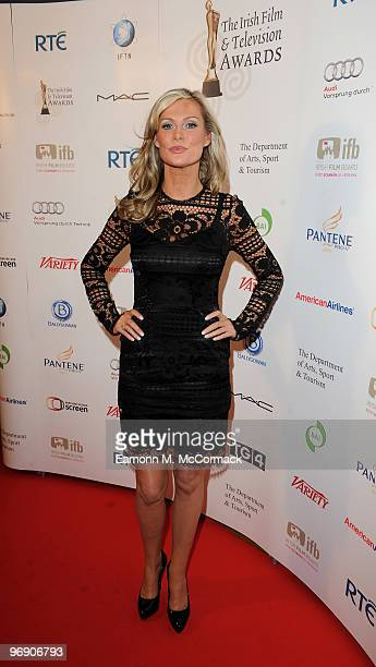Alison Doody poses in the Awards Room at The 7th Annual Irish Film And Television Awards at the Burlington Hotel on February 20 2010 in Dublin Ireland