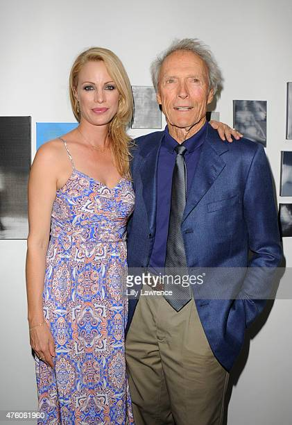 Alison Eastwood and Clint Eastwood attend Alison Eastwood hosts The Art For Animals Fundraiser Art event at De Re Gallery on June 5 2015 in West...