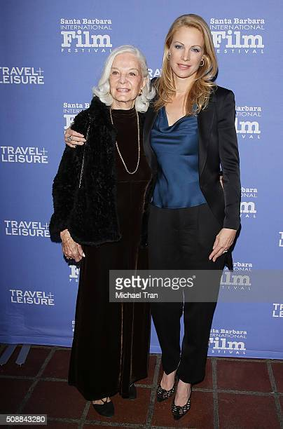 Alison Eastwood and her mom, Maggie Johnson arrive at the Virtuoso's Award during The 31st Santa Barbara International Film Festival held at...