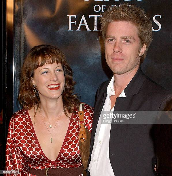 Alison Eastwood and Kyle Eastwood during Flags of Our Fathers Los Angeles Premiere Arrivals at Academy Theatre in Beverly Hills California United...