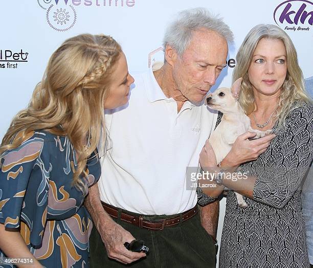 Alison Eastwood, Clint Eastwood and Christina Sandera attend Eastwood Ranch Foundations hosts 1st annual Fall Garden Party Animal Rescue Fundraiser...