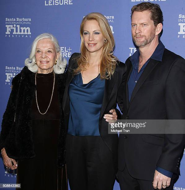 Alison Eastwood with her mom, Maggie Johnson and husband, Stacy Poitras arrive at the Virtuoso's Award during The 31st Santa Barbara International...